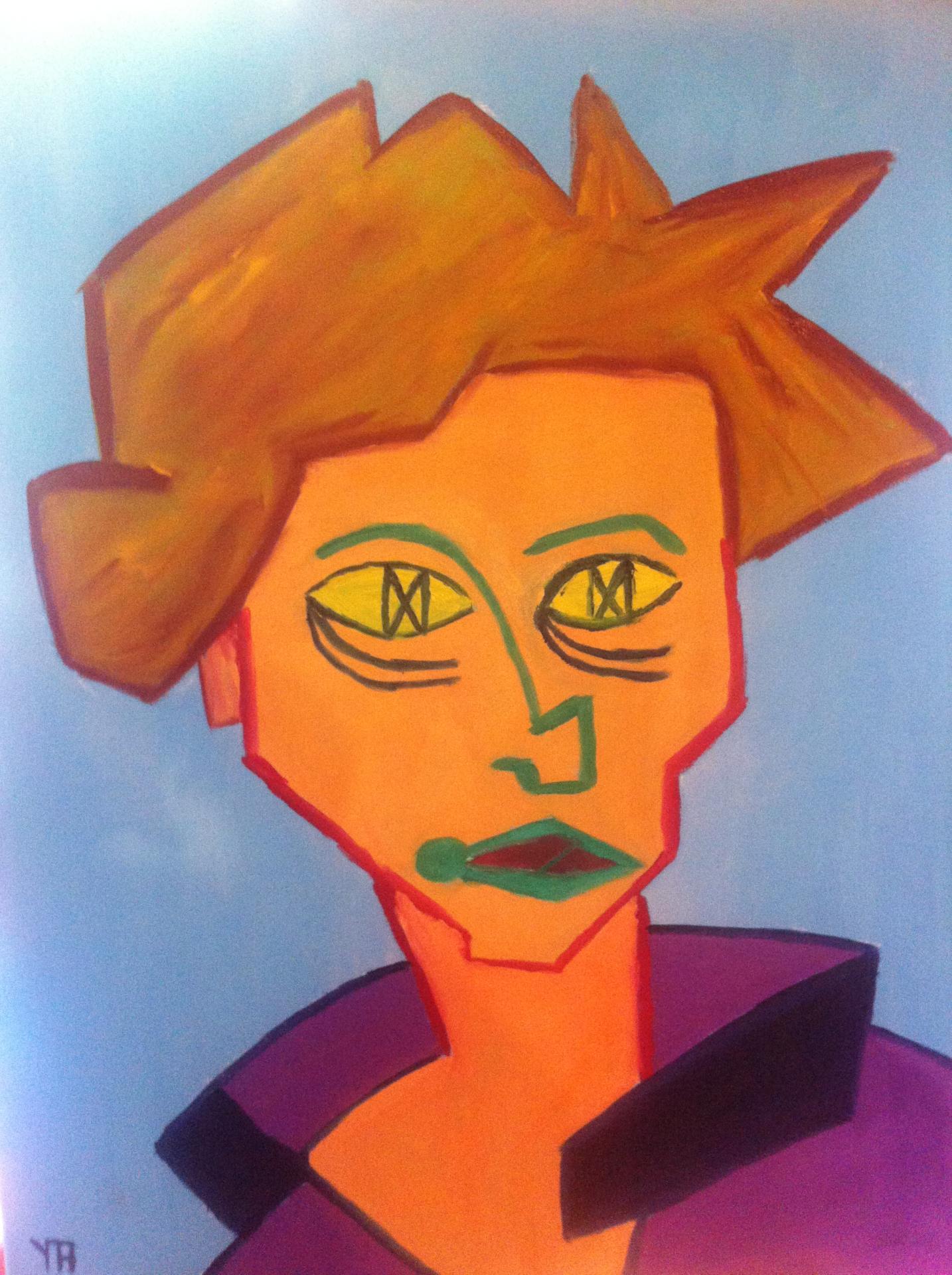 Portrait d armelle huille sur toile 30f