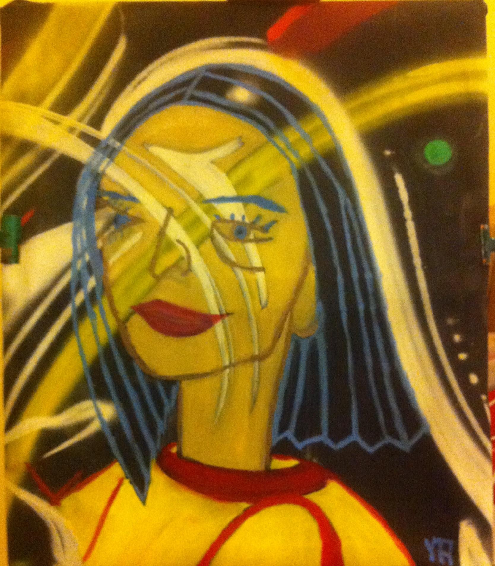 Portrait de marie sophie huile sur toile 20f
